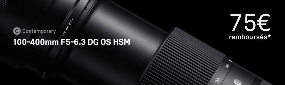 100-400mm F5-6.3 DG OS HSM | Contemporary. Le téléobjectif léger et compact